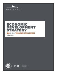 Two Year Status Report - Portland Economic Development Strategy