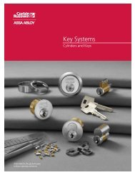 Key Systems - Locksmith Security Association of Michigan - LSA