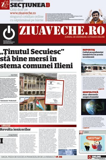 """""""Ţinutul Secuiesc"""" stă bine mersi în stema comunei Ilieni - Ziua Veche"""