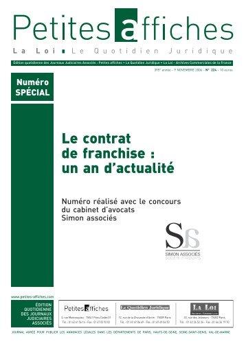 Le contrat de franchise : un an d'actualité - Simon Associés