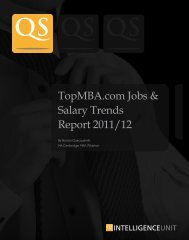 1 TopMBA.com Jobs & Salary Trends Report 2011/12 - QS