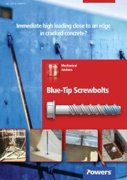 Blue-Tip Screwbolts - bei Powers Europe