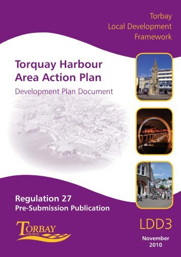 Torquay Harbour Area Action Plan Regulation 27 - Torbay Council