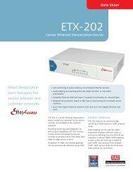ETX-202 - RAD TÜRKİYE Data Communications
