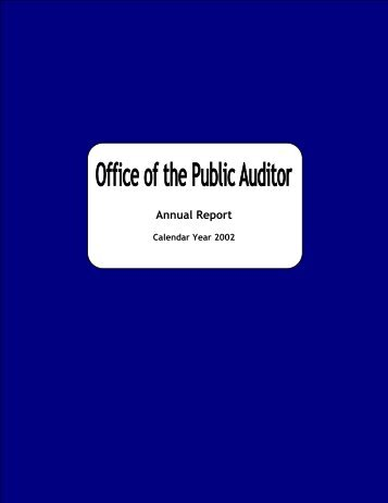 2002 - The Office of Public Accountability