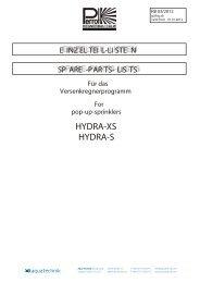HYDRA-XS HYDRA-S - Aqua Technik