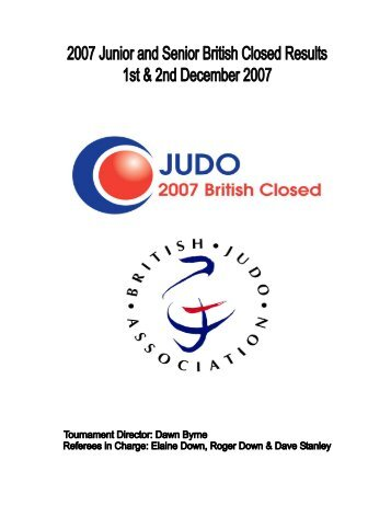 2007 Senior British Closed - British Judo Association