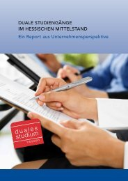 Report als PDF-Download - Duales Studium Hessen