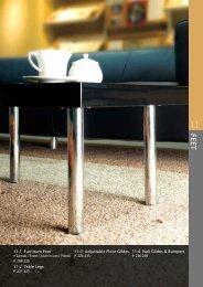 11-1 Furniture Feet 11-2 Table Legs 11-3 Adjustable Floor Glides 11 ...