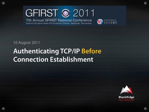 Authenticating TCP/IP Before Connection Establishment