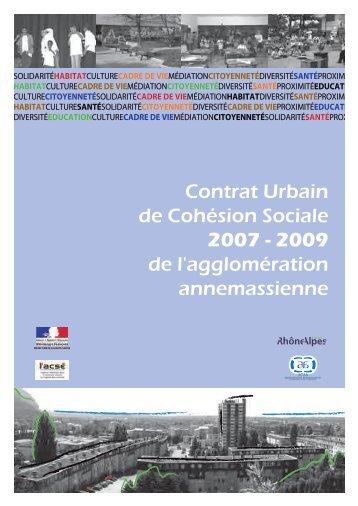 CONTRAT URBAIN DE COHESION SOCIALE - Annemasse agglo