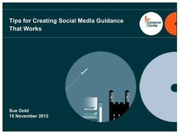 Tips for Creating Social Media Guidance That Works - International ...