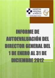 Informe Ejecutivo Enero - Diciembre 2012 - Hospital General de ...
