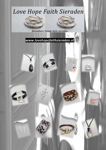 Love Hope Faith Sieraden