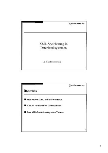 Xml-Speicherung in Datenbanksystemen