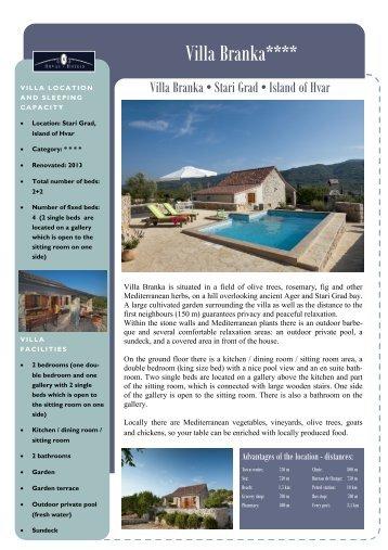 Villa Branka**** - Orvas Hotels