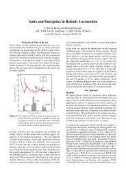 Gaits and Energetics in Robotic Locomotion