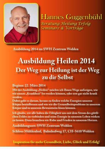 Ausbildung Heilen 2014 - Hannes Guggenbühl