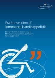 Fra konvention til kommunal handicappolitik - Socialstyrelsen