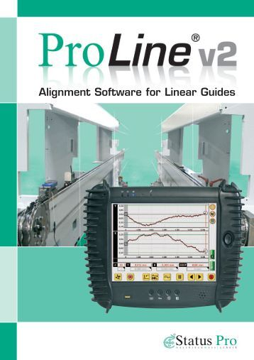 ProLine v2 – Alignment Software for Linear Guides - Status Pro ...