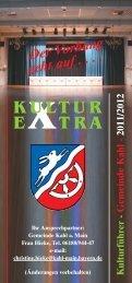 2011/2012 E XTRA KULTUR - Gemeinde Kahl am Main