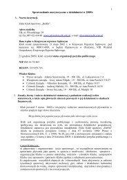 Sprawozdanie merytoryczne z działalności w 2005r - Wyszukiwanie ...