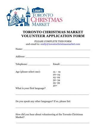 Clarington Older Adult Association Volunteer Application Form