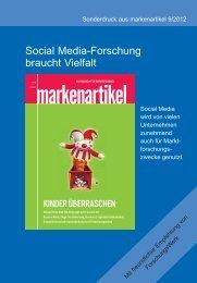 Social Media-Forschung braucht Vielfalt - ForschungsWerk GmbH