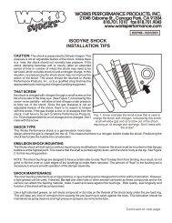 Isodyne Shock Installation Tips (Kuryakin) - Works Shocks