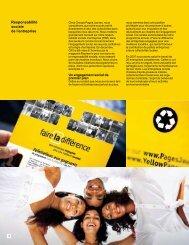 Responsabilité sociale de l'entreprise - Yellow Pages Group
