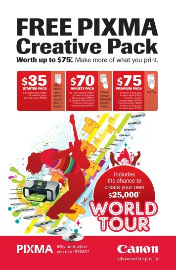 FREE PIXMA Creative Pack - Officeworks