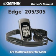 Edge™ 205/305 Owner's Manual - Garmin