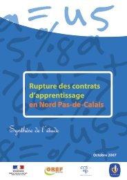 Les ruptures des contrats d'apprentissage en Région Nord ... - C2RP