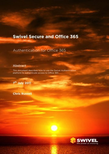 Swivel Secure and Office 365