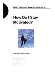 How Do I Stay Motivated? - Lake Washington Institute of Technology