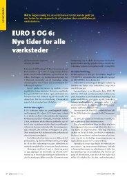 Euro 5 og 6: Nye tider for alle værksteder