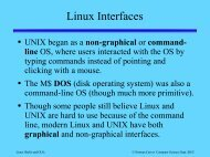 Linux Interfaces - Department of Computer Science