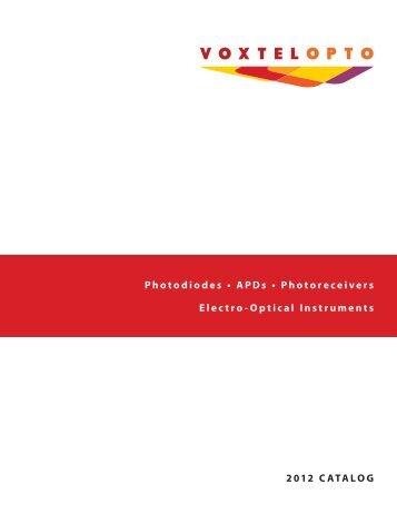 APD Photoreceivers - Voxtel