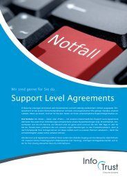Support Level Agreements - Infotrust