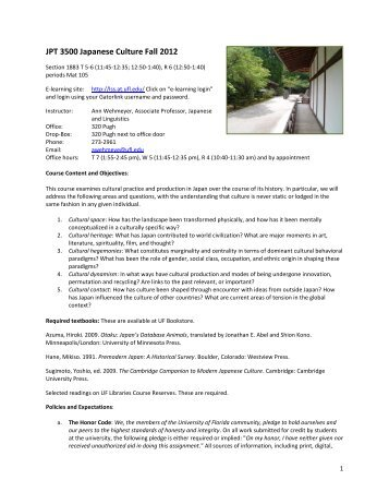 JPT 3500 - Department of Languages, Literatures, and Cultures ...