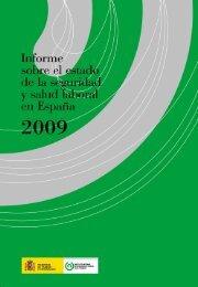 Informe de la Seguridad y Salud Laboral 2009 - Instituto Nacional ...