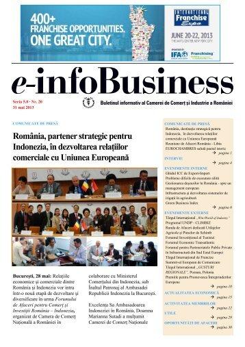 e-infoBusiness nr. 20/31.05.2013 - Camera de Comert si Industrie a ...
