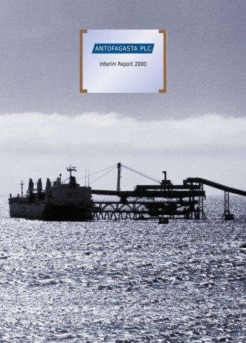 Interim results to June 30, 2000 - Antofagasta plc