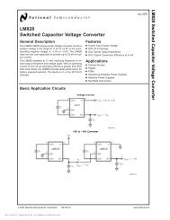 LM828 Switched Capacitor Voltage Converter