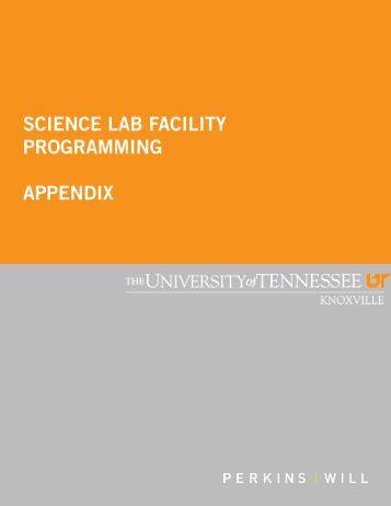 science lab facility programming appendix - Facilities Services
