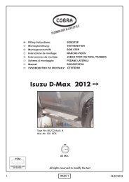 Isuzu D-Max 2012 - Cobra-SOR