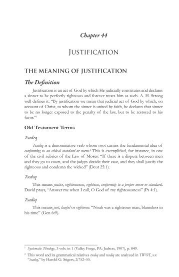 Chapter 44 on Justification