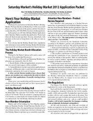 2012 Holiday Market Application - Eugene Saturday Market