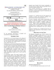Enzyme Immunoassay for the Quantitative Determination of Estradiol