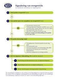Stroomdiagram MIS NIGZ - Zorg voor gezond gewicht